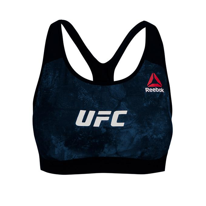 Women's UFC Reebok Octagon Base Bra - Blue