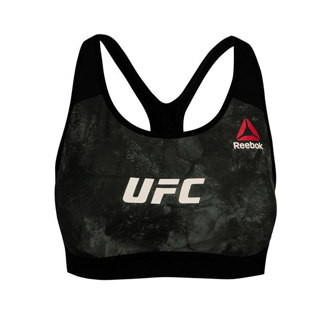Women's UFC Reebok Octagon Base Bra - Black