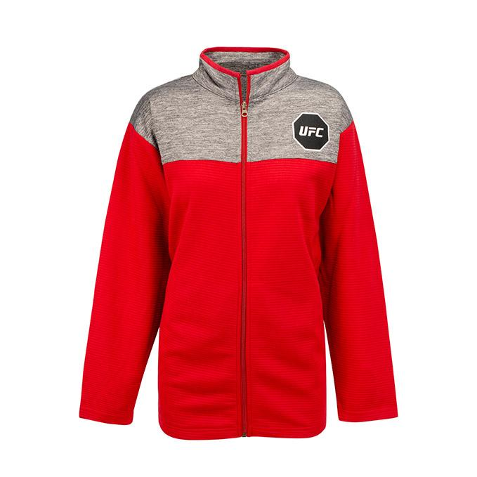 UFC Womens Contrast Full Zip Jacket -Red