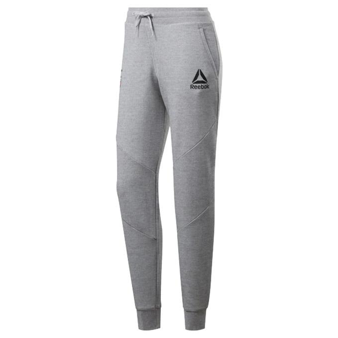 Women's UFC Reebok Fan Gear Fight Week Joggers - Heather Grey