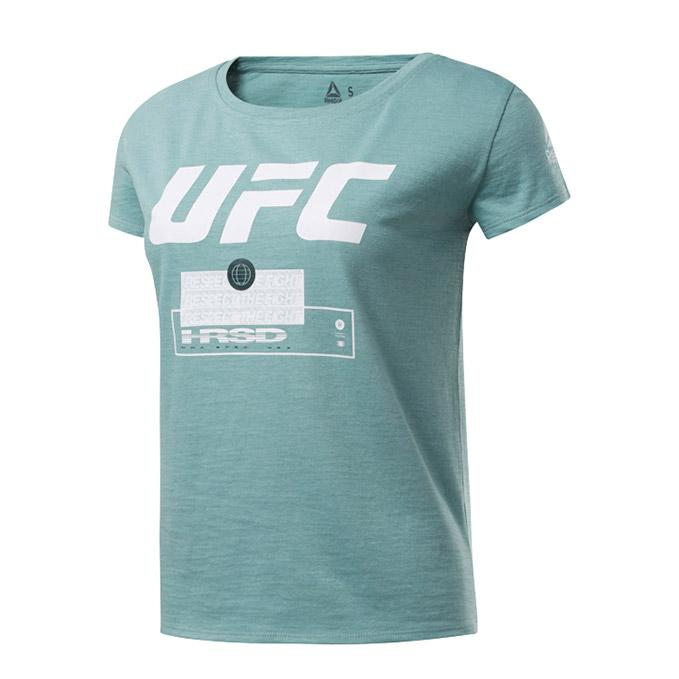 Women's UFC Reebok Fan Gear Fight Week T-Shirt - Green Slate