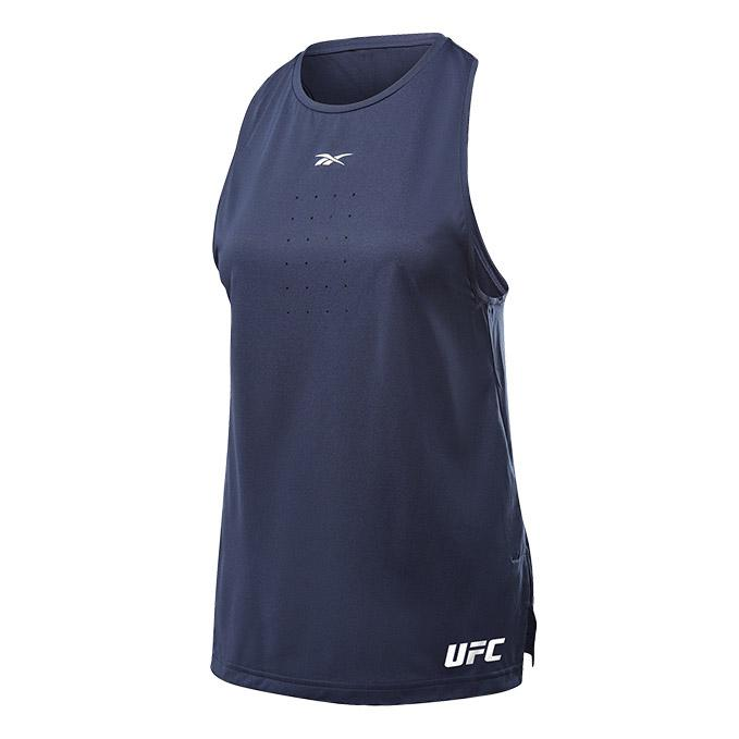 Women's UFC Reebok UBF Perforated Tank Top - Victory Navy