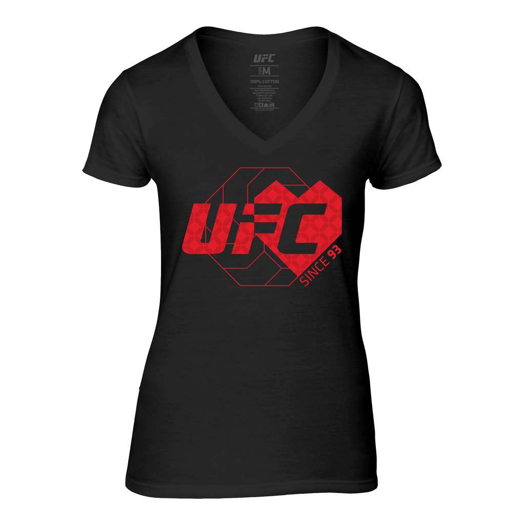 Women's UFC Love Since '93 V-neck T-Shirt - Black