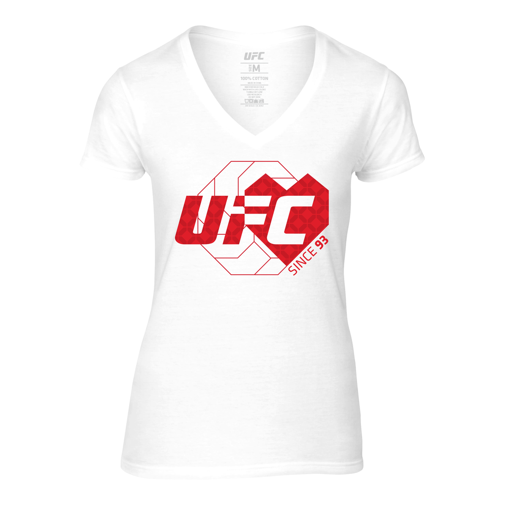 Women's UFC Love Since '93 V-neck T-Shirt - White