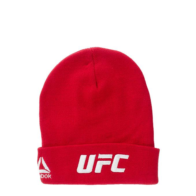 UFC Logo Reebok Knitted Beanie-Red
