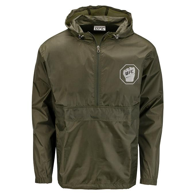 UFC Men's Packable Jacket- Olive