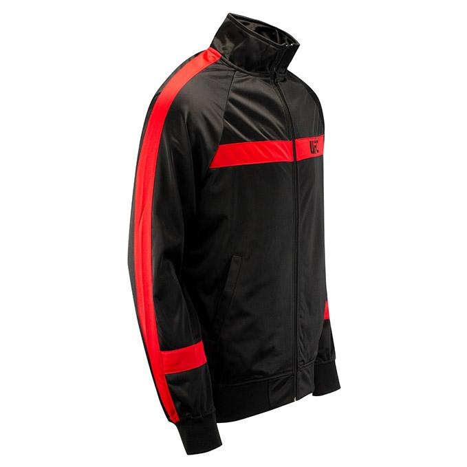 UFC Mens Renzo Track Jacket-Black/Red