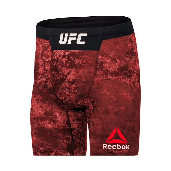 Reebok Red UFC Octagon Vale Tudo Short Long