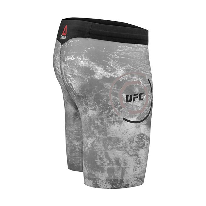 Reebok UFC Men's Fight Night Octagon Long Vale Tudo Shorts-Power Grey
