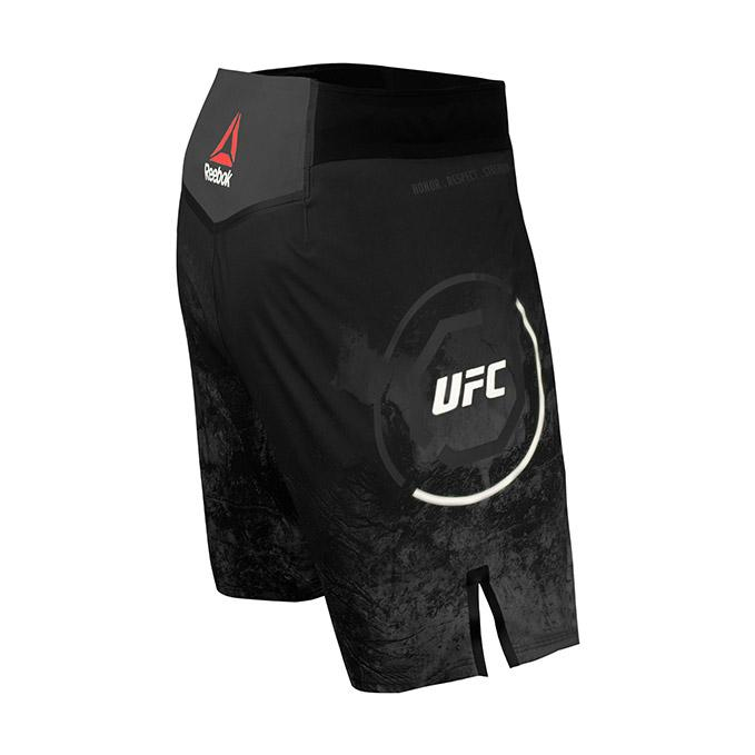 Men's Reebok Authentic UFC Octagon Trunk Short Long-Black