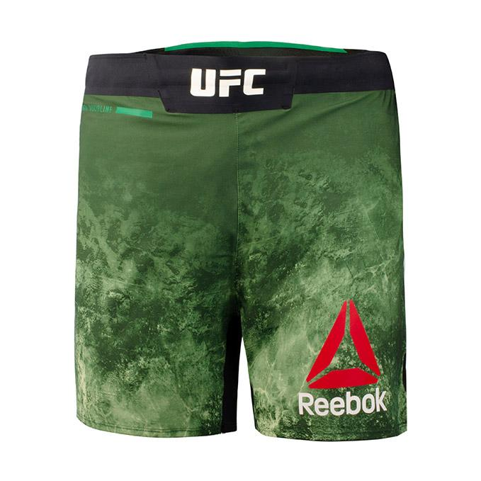 Men's Reebok Authentic UFC Octagon Trunk Short Long-Club Green