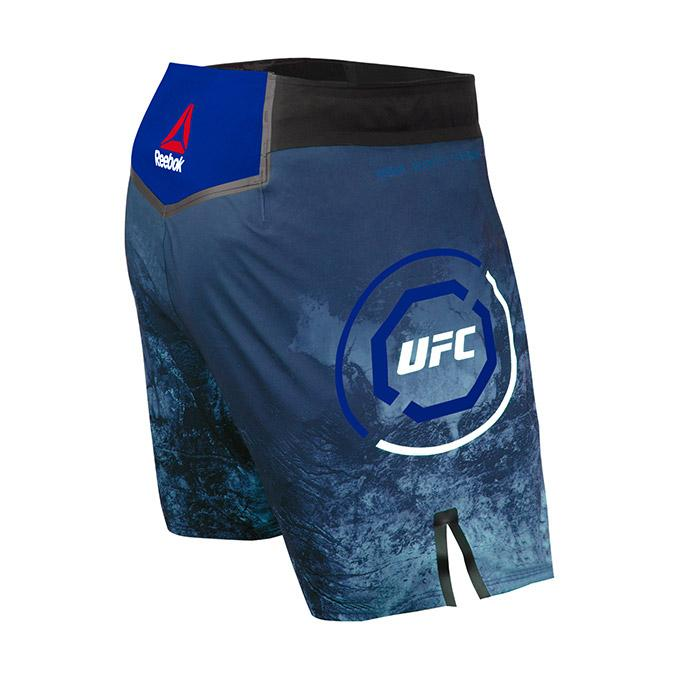 Men's Reebok Authentic UFC Octagon Trunk Short Long-Symphony blue