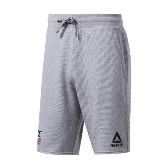 UFC Reebok Fan Gear Fight Week Shorts - Heather Grey