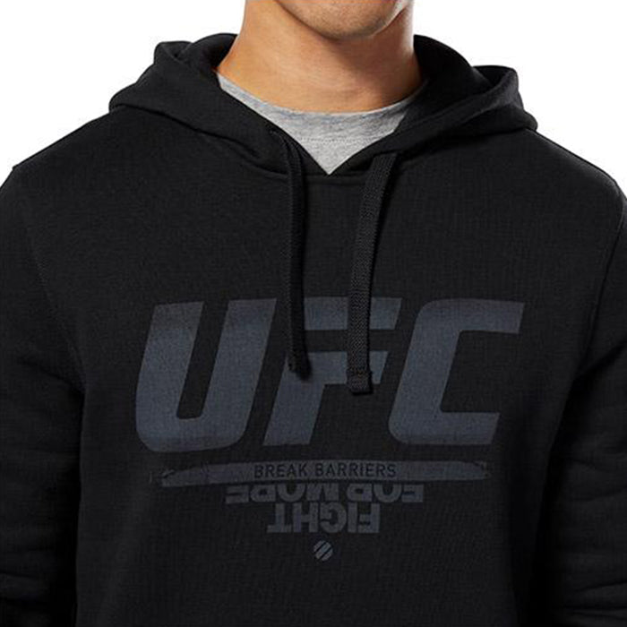 Reebok Black, Fight for More, UFC Pullover Hoodie