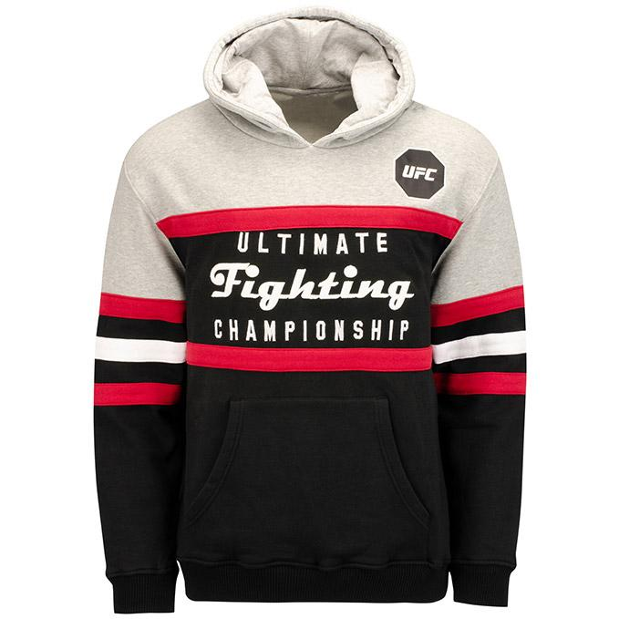 UFC Head Coach Pullover Hooded Sweatshirt -Black/Grey/Red