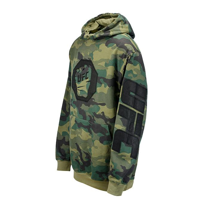 UFC Camo Fleece Pullover Hoodie -Fig Green/Camo