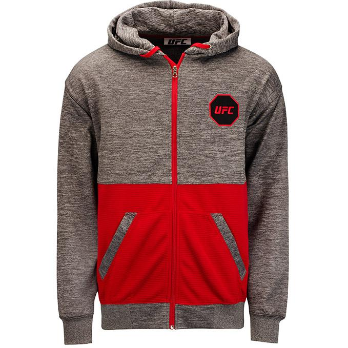 UFC Mens Contrast Full Zip Jacket -Grey/Red