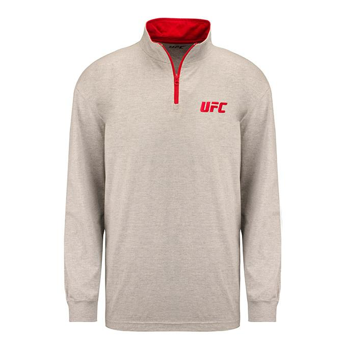 UFC Mens Tech 1/4 Zip - Grey Heather