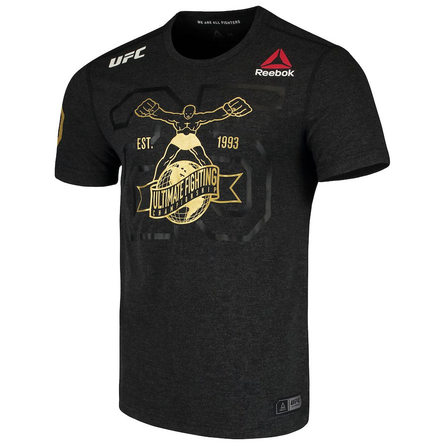 Men's Reebok Black & Gold Authentic UFC Fight Night 25th Anniversary Walkout Jersey