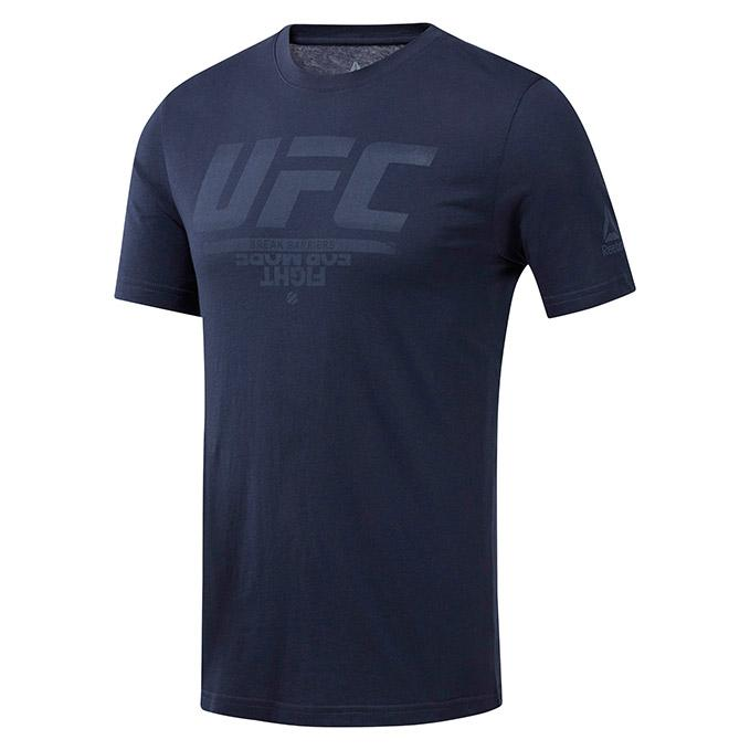 UFC Reebok Fan Gear Logo Tee-Navy