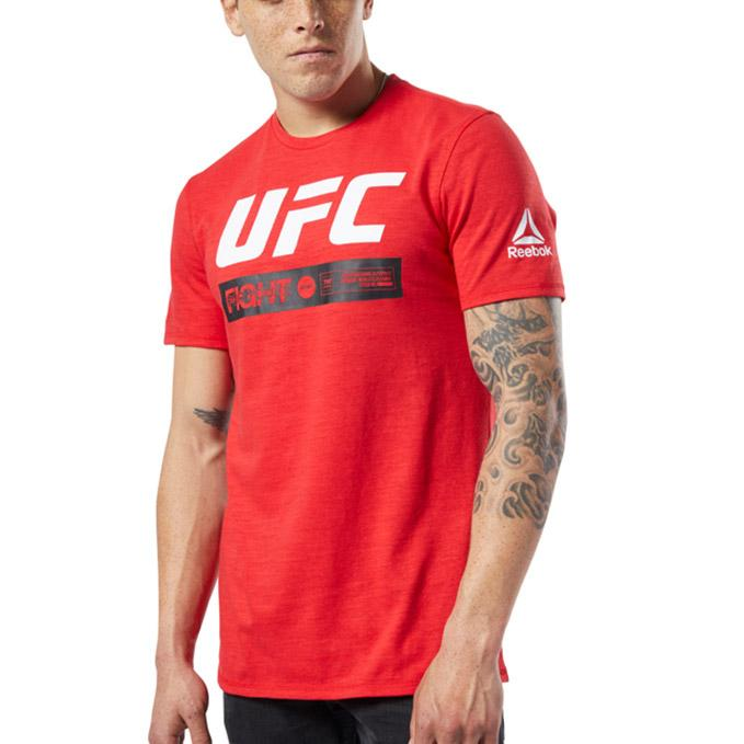 Mens Reebok UFC Fan Gear Fight Week Tee-Red
