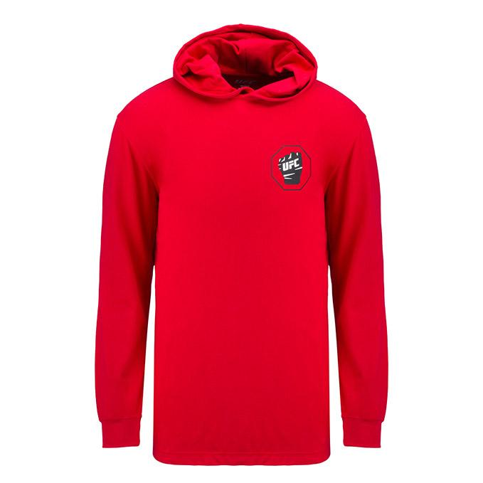 UFC Mens Long Sleeve Hooded -Red