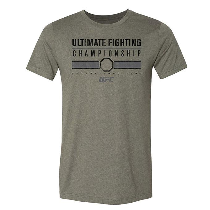 Men's UFC Collegiate T-Shirt - Heather Military Green