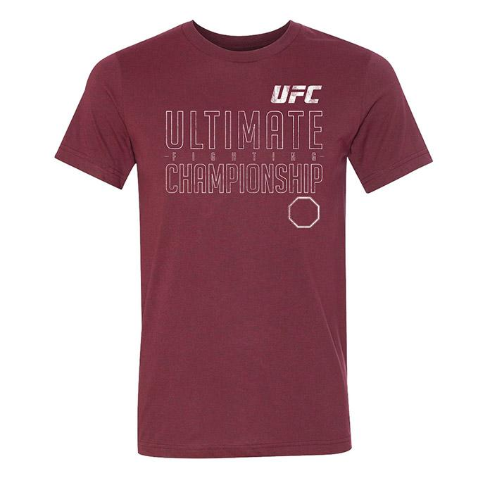 Men's UFC Slogan T-Shirt - Heather Cardinal