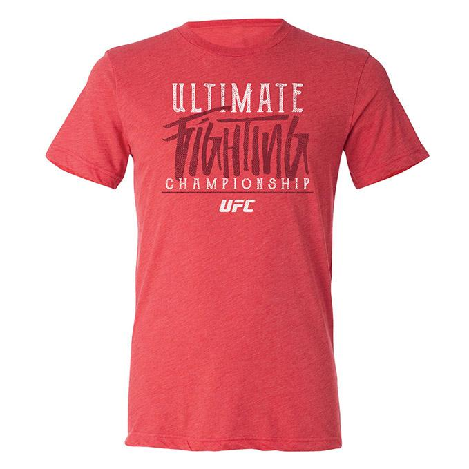 Men's UFC Ultimate Fighting Championship Triblend T-Shirt - Heather Red