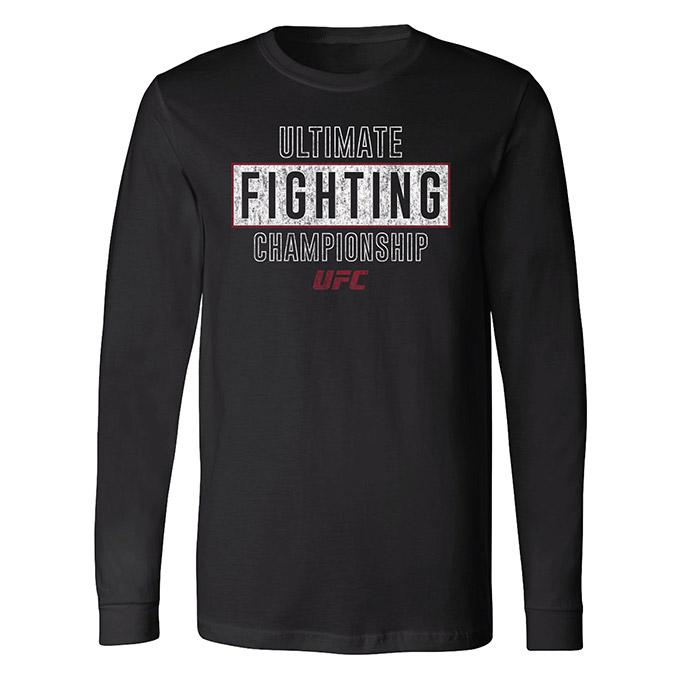 Men's UFC Long Sleeve Slub T-Shirt - Black