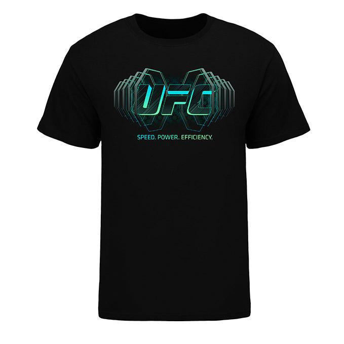 Men's UFC Geometric After Dark Speaker T-Shirt - Black