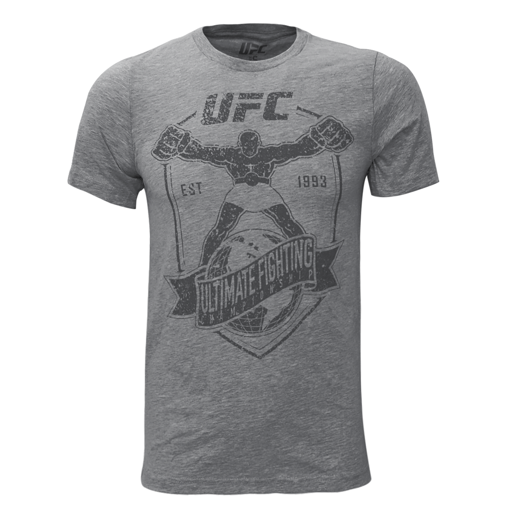 Men's UFC Utli-Man Distrissed Graphic Print Tee - Grey