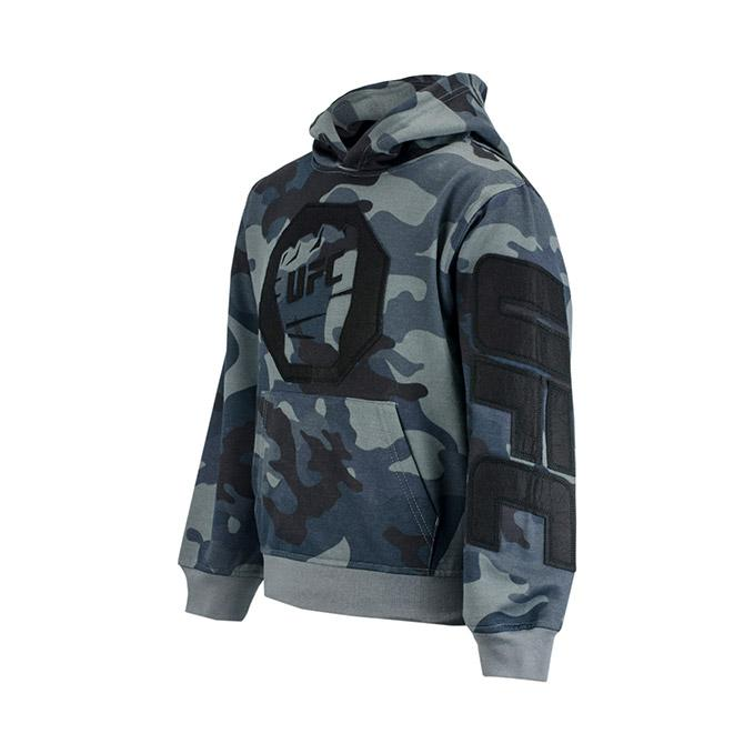 UFC Youth Camo Fleece Pullover Hoodie - Slate Grey - Camo