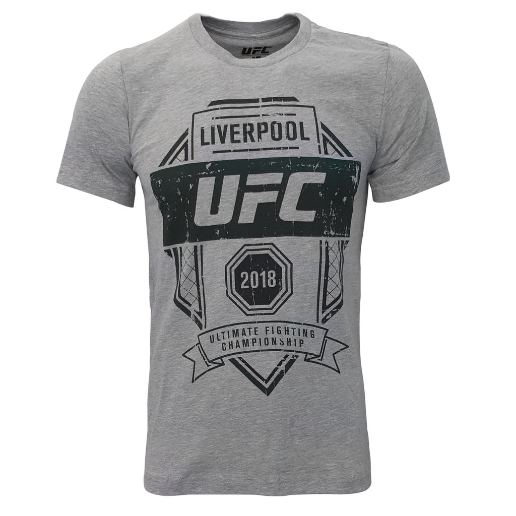 Men's UFC Liverpool Fight Night 2018 Graphic Tee -Grey