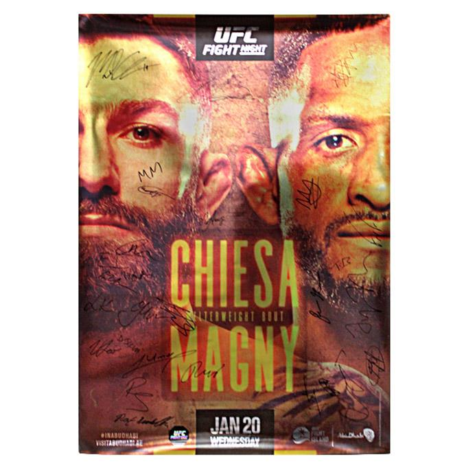 Fight Night Magny vs Chiesa Autographed Event Poster