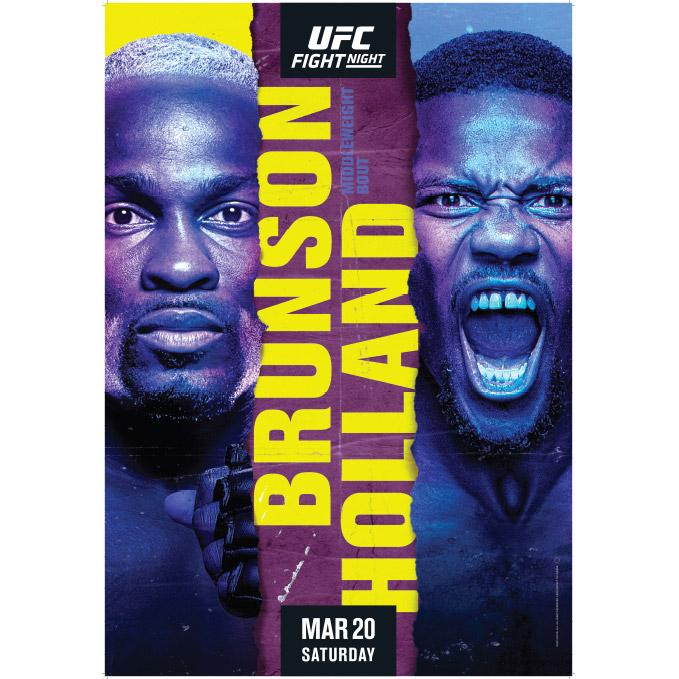 Fight Night Brunson vs Holland Autographed Event Poster