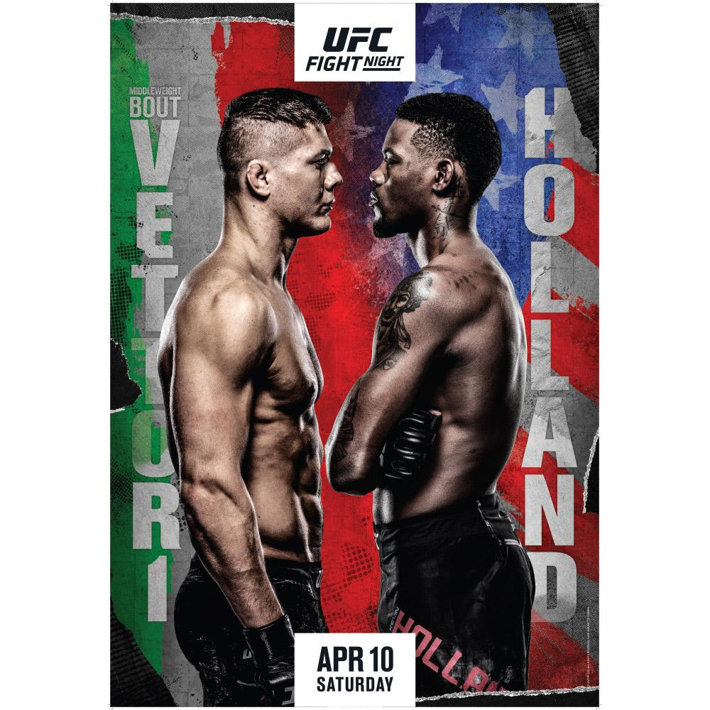 Fight Night Vettori vs Holland Autographed Event Poster