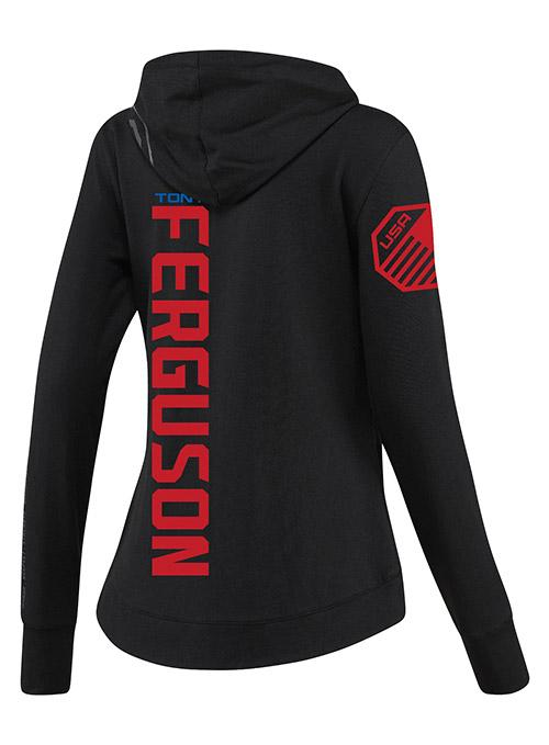 Women's Reebok Tony Ferguson Black UFC Fight Night Walkout Hoodie Replica