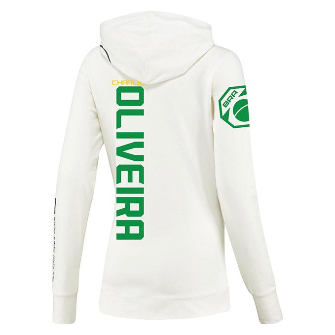 Women's Reebok Charles Oliveira Chalk UFC Fight Night Walkout Hoodie Replica