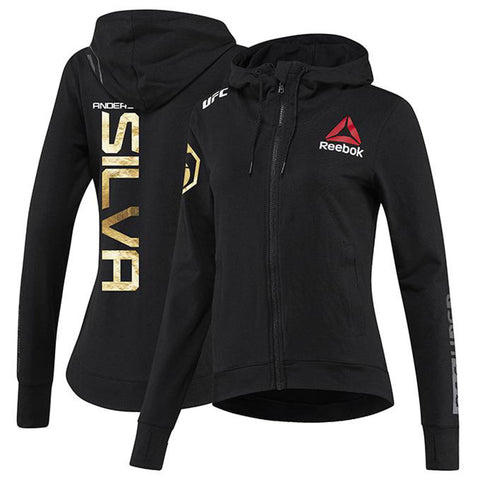 Men's Reebok Anderson Silva Chalk Authentic UFC Fight Night Walkout Jersey