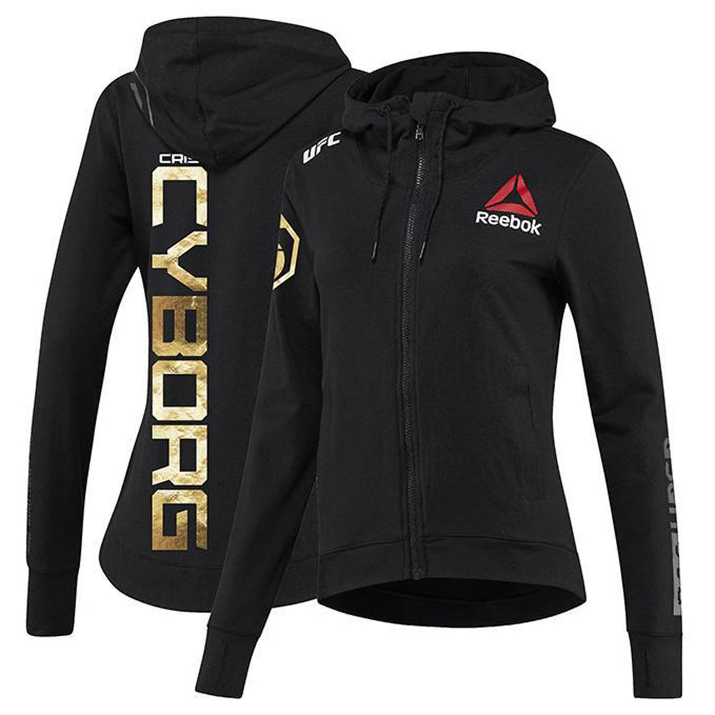 Womens Reebok Cris Cyborg Champion UFC Fight Night Walkout Hoodie Replica