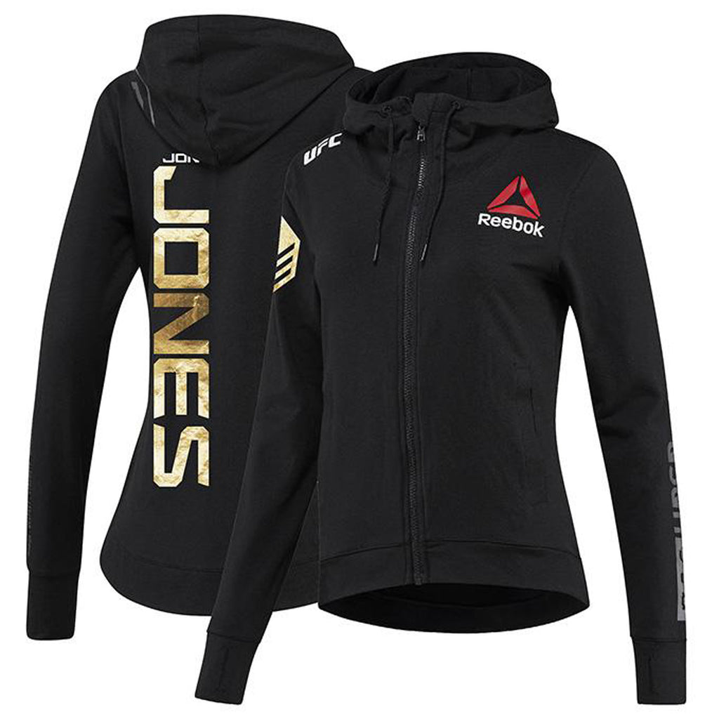 Women's Reebok Jon Jones Champion UFC Fight Night Walkout Hoodie Replica