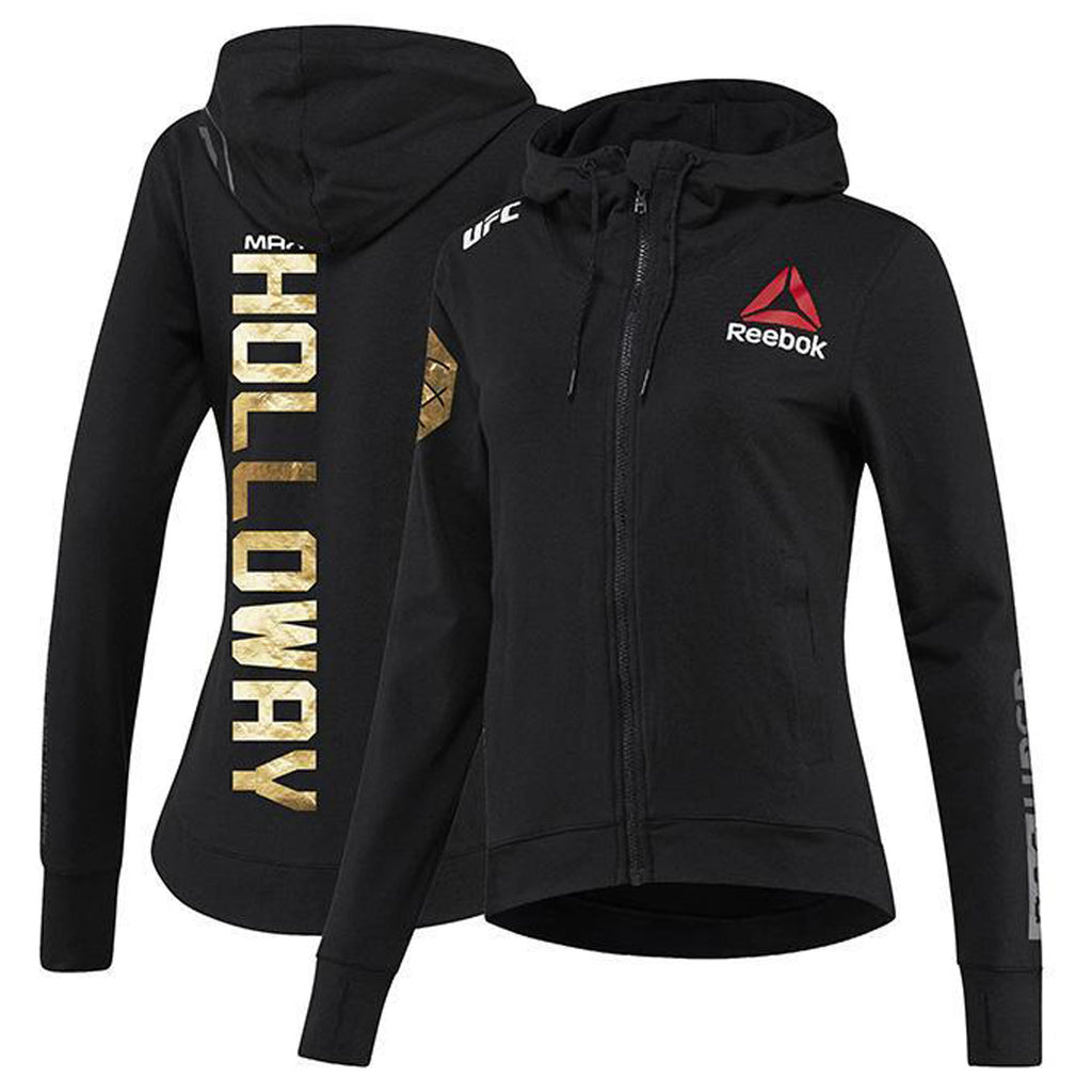 Women's Reebok Max Holloway Champion UFC Fight Night Walkout Hoodie Replica