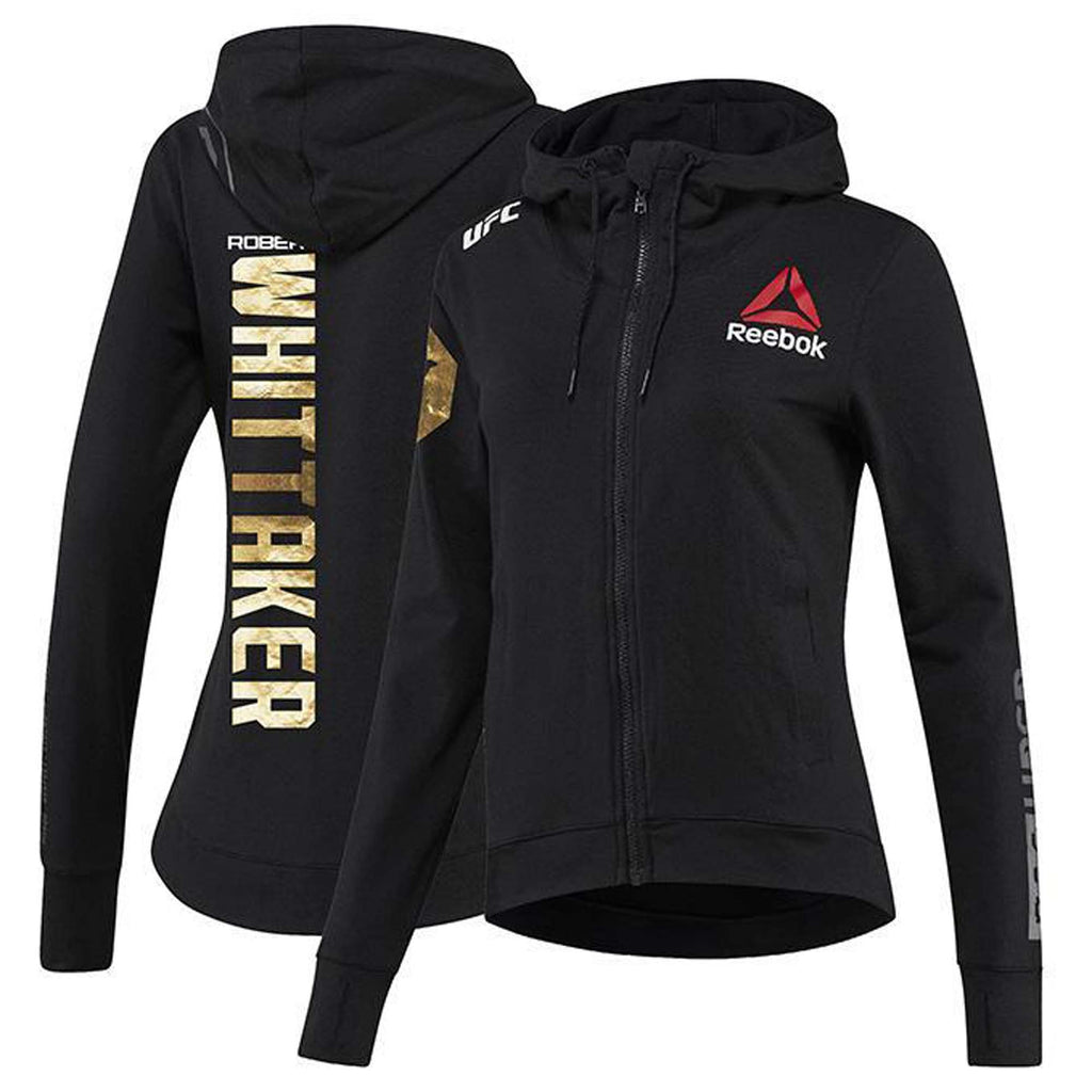 Womens Reebok Robert Whittaker Champion UFC Fight Night Walkout Hoodie Replica