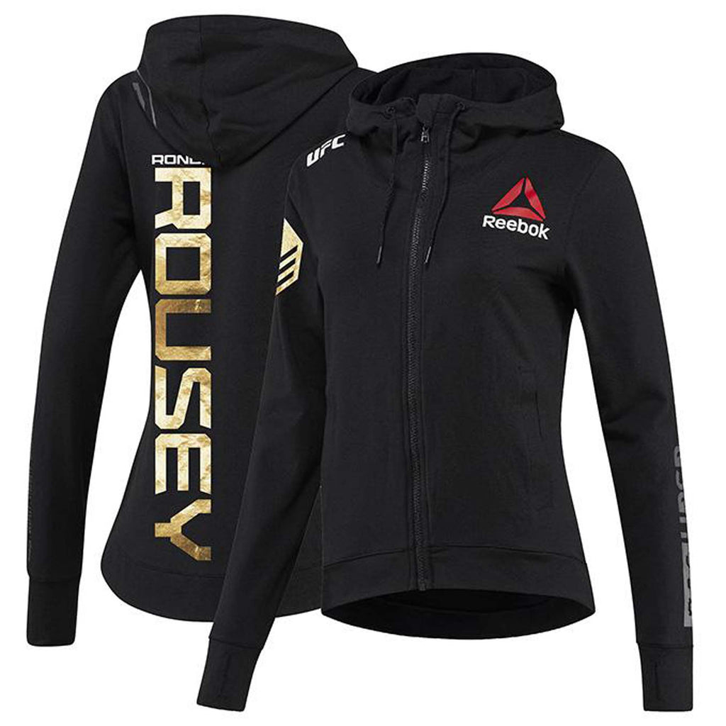 Womens Reebok Ronda Rousey Champion UFC Fight Night Walkout Hoodie Replica