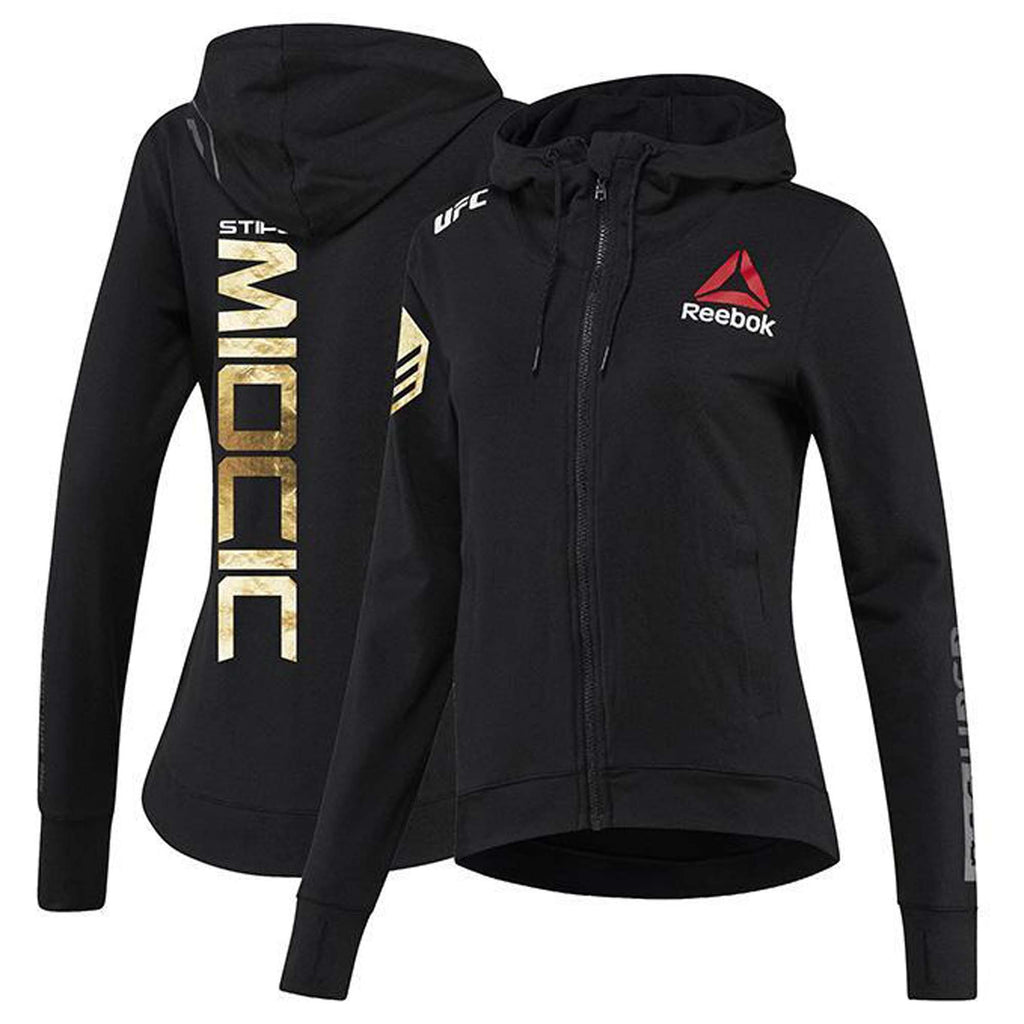 Womens Reebok Stipe Miocic Champion UFC Fight Night Walkout Hoodie Replica