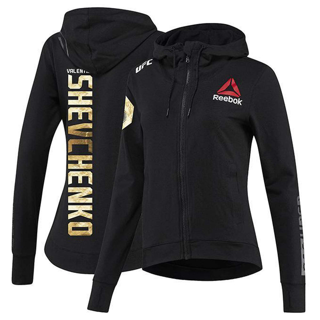 Womens Reebok Valentina Shevchenko Champion UFC Fight Night Walkout Hoodie Replica