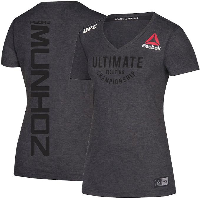 Women's Reebok Pedro Munhoz Black Authentic UFC Fight Night Walkout Jersey