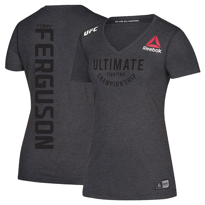 Women's Reebok Tony Ferguson Black Authentic UFC Fight Night Walkout Jersey