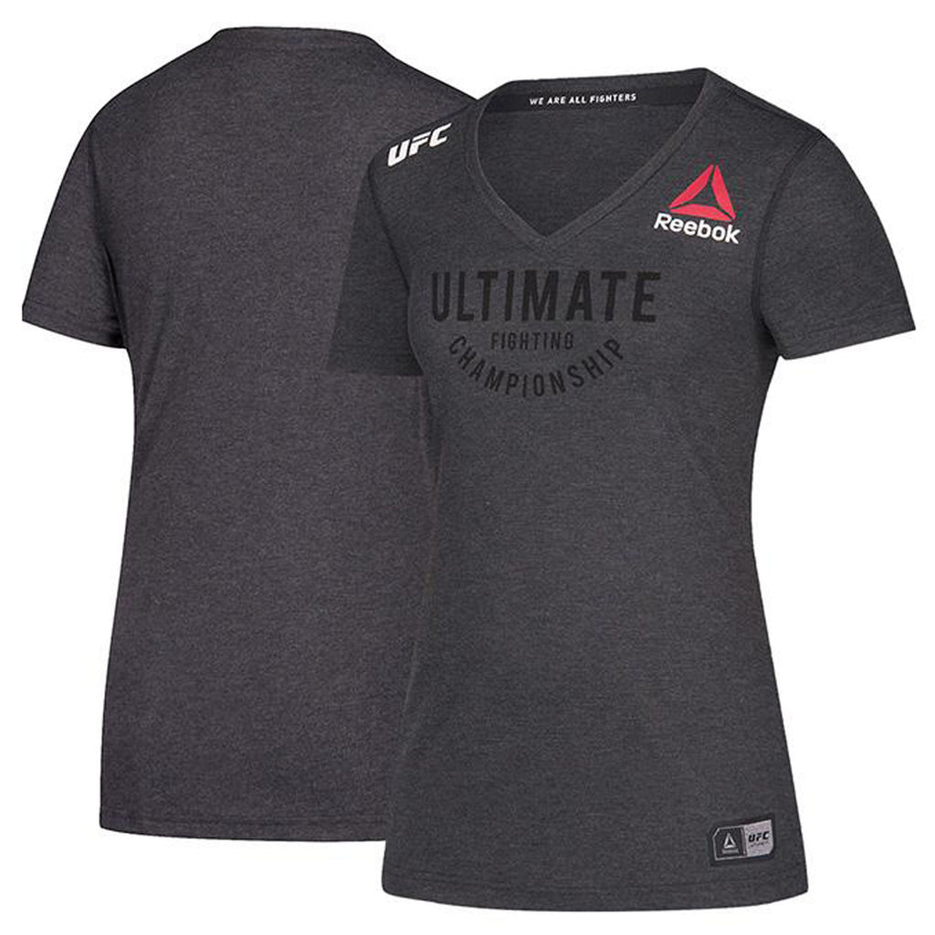 Women's Reebok Black Authentic UFC Fight Night Walkout Jersey